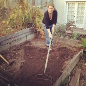 Genevieve Brazelton in her Garden